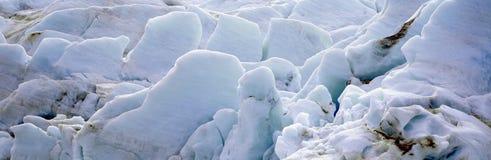 Uitgangsgletsjer bij Harding-Ijsgebied, Kenai-Bergen, Seward, Alaska Stock Foto's
