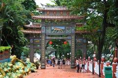 Uitgangskant van ingang aan de Villa van het de Hagedoornpari van Singapore Stock Fotografie