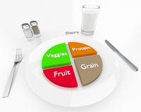 Uitgebalanceerd dieet Stock Foto