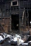 Uitgebrand huis Stock Afbeeldingen