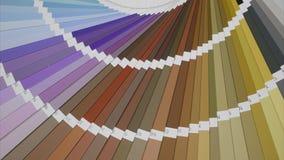 Uitgebreid kleurenpalet, van close-up aan een lang schot stock video
