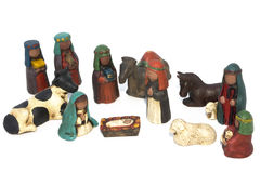 Uitgebreide nativityKerstmis Royalty-vrije Stock Afbeeldingen