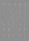 Uitgedreven kruis. royalty-vrije illustratie
