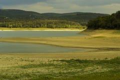 Uitgedroogd reservoir royalty-vrije stock foto
