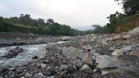 Uitgedroogde bijna Guatemalaanse rivier Stock Afbeelding