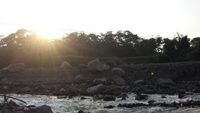Uitgedroogde bijna Guatemalaanse rivier Stock Foto's