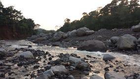 Uitgedroogde bijna Guatemalaanse rivier Royalty-vrije Stock Foto's
