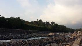 Uitgedroogde bijna Guatemalaanse rivier Royalty-vrije Stock Afbeelding