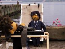 Uitgeputte marionetten stock fotografie