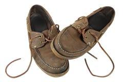 Uitgeputte schoenen Stock Foto's