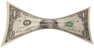 Uitgerekte Dollar Royalty-vrije Stock Afbeeldingen