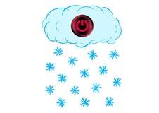Uitgeschakelde sneeuwwolk royalty-vrije illustratie
