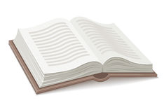 Uitgespreid boek met open stock illustratie