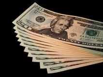 Uitgespreid contant geld Stock Fotografie