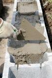 Uitgespreid mortier royalty-vrije stock afbeelding