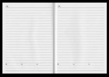 Uitgespreid notitieboekje Royalty-vrije Stock Foto
