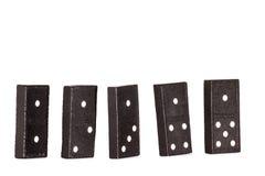 Uitgespreid stuk van domino Royalty-vrije Stock Foto's