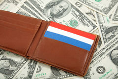 Uitgespreid van Geld als achtergrond Stock Foto