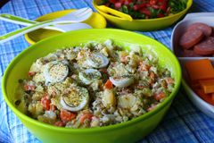 Uitgespreide aardappelsalade Stock Foto