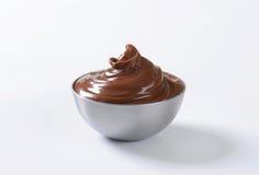 Uitgespreide hazelnootchocolade Royalty-vrije Stock Fotografie