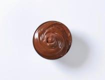 Uitgespreide hazelnootchocolade Stock Foto's