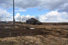 Uitgestorven dorp in de Russische provincie Stock Afbeeldingen