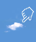 Uitgezochte de hand van het pictogram Stock Foto's