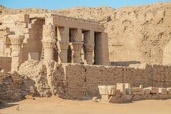 Uitgravingen van de oude Roman nederzetting in Edfu royalty-vrije stock afbeelding