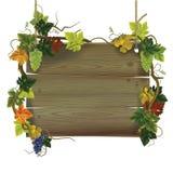 Uithangbord met druiven Royalty-vrije Stock Foto