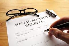 Uitkeringen van de sociale zekerheid Stock Foto