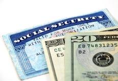 Uitkeringen van de sociale zekerheid Royalty-vrije Stock Foto