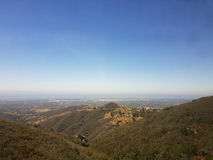 Uitlopers die Santa Barbara overzien stock afbeelding