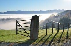 Uitlopers n de mist, Pays Basque Royalty-vrije Stock Afbeelding