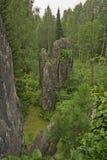 Uitlopers van tremolite Stock Fotografie