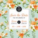 Uitnodiging of Gelukwenskaart - voor Huwelijk, Babydouche Royalty-vrije Stock Afbeelding