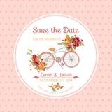 Uitnodiging of Gelukwenskaart - voor Huwelijk, Babydouche stock illustratie