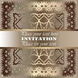 uitnodiging Gouden kantpatroon Royalty-vrije Stock Fotografie