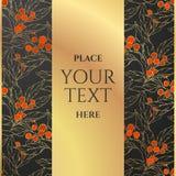 Uitnodiging of groetkaart met hulstbessen en bladeren Bloemen ontwerp? achtergrond, achtergrond, illustratie Royalty-vrije Stock Fotografie