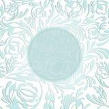 Uitnodiging met abstracte bloemenachtergrond Stock Afbeeldingen