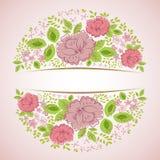 Uitnodiging met abstracte bloemenachtergrond Royalty-vrije Stock Fotografie