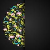 Uitnodiging met abstracte bloemenachtergrond Royalty-vrije Stock Foto