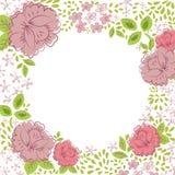 Uitnodiging met abstracte roze achtergrond Royalty-vrije Stock Foto