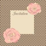Uitnodiging met bloemen Stock Afbeeldingen