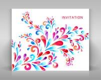 Uitnodiging met bloemendecoratie Stock Foto's