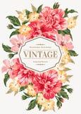 Uitnodiging met kleurrijke bloemen Royalty-vrije Stock Foto
