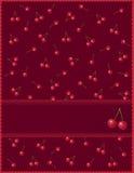 Uitnodiging met rode bessen Stock Foto's