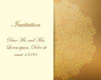 Uitnodiging met victorian mooie ornamenten, Stock Foto's