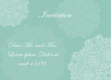 Uitnodiging met victorian mooie ornamenten, Stock Afbeelding
