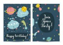 Uitnodiging op Kinderen Gekostumeerde Verjaardagspartij stock illustratie