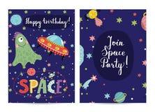 Uitnodiging op Kinderen Gekostumeerde Verjaardagspartij royalty-vrije illustratie